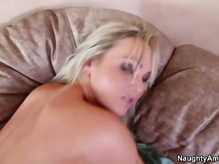 Delightful breasty Priory Brooks attending in surprising blowjob porn