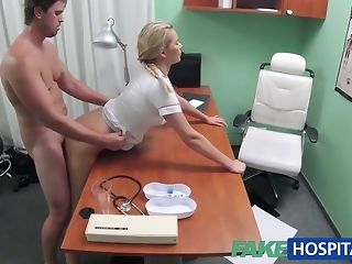 Blondie nurse helps boy get an full immortalize with her mitts easy porn
