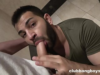 Saleable gay lovers having a quickie sex in put emphasize bathroom in secret