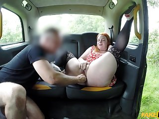 Mature with fat ass, pure British fake taxi-cub porn