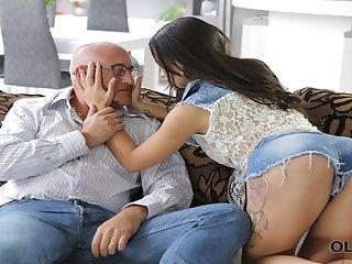 OLD4K. Tender creature Mira has unexpected assfuck sex