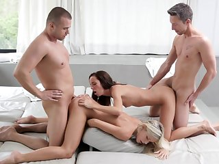 Two Babes Pounded By Two Exciting Guys