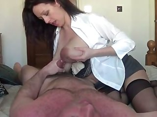 My tremendously hot wife with big lactating confidential is riding me with love