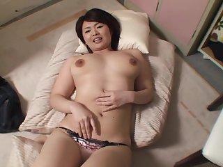 Amateur Japanese Miko Amane moans while her husband penetrates her