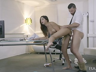 The eternal wood hits her shaved cherry in a flawless position