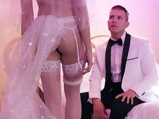 Fucking befitting after the wedding with tempting wife Avi Love
