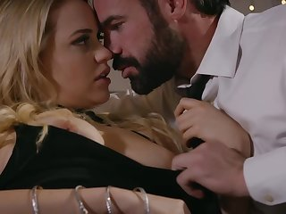 Mia Malkova is holding her frontier fingers lifted high above her head and acquiring fucked very hard
