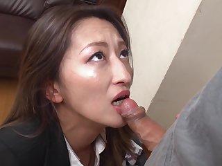 Fukiishi Rena A Prank Relative to The Beautiful Milf Office Lady
