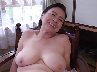 Asian, Big tits, Brunette, Dildo, Hairy, Japanese, Mature, Mature big tits, Tits